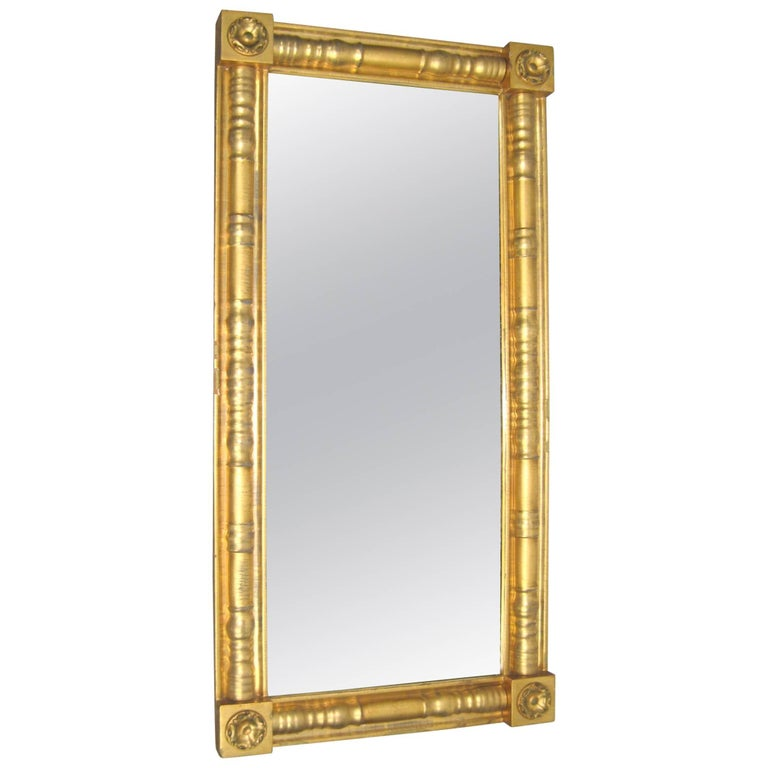 Stunning neoclassical gold gilt mantle mirror for sale at for Mantel mirrors