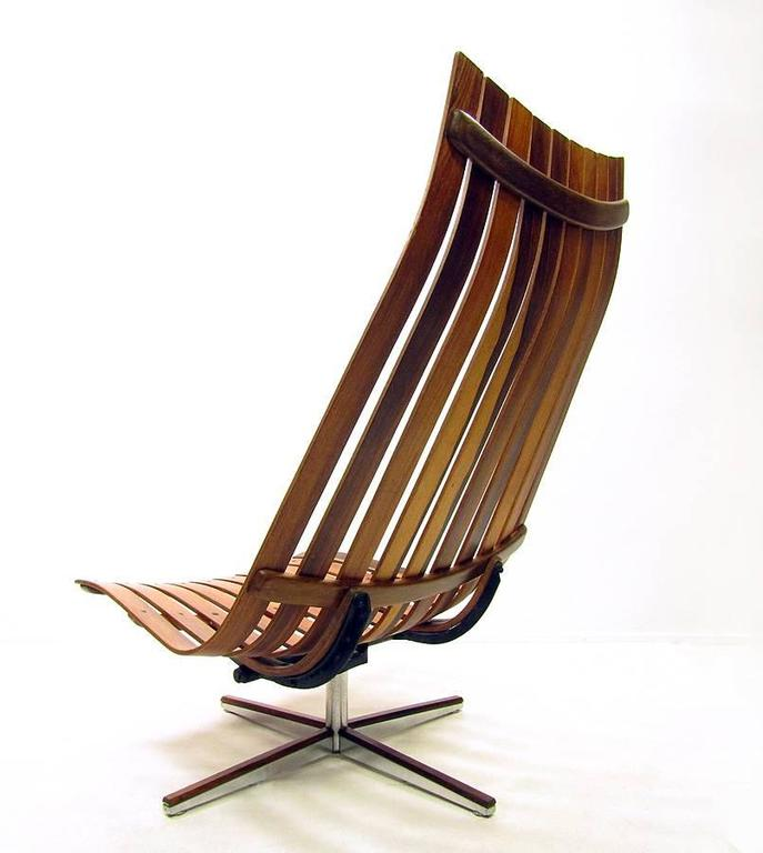 Rosewood Scandia Chair By Hans Brattrud At 1stdibs