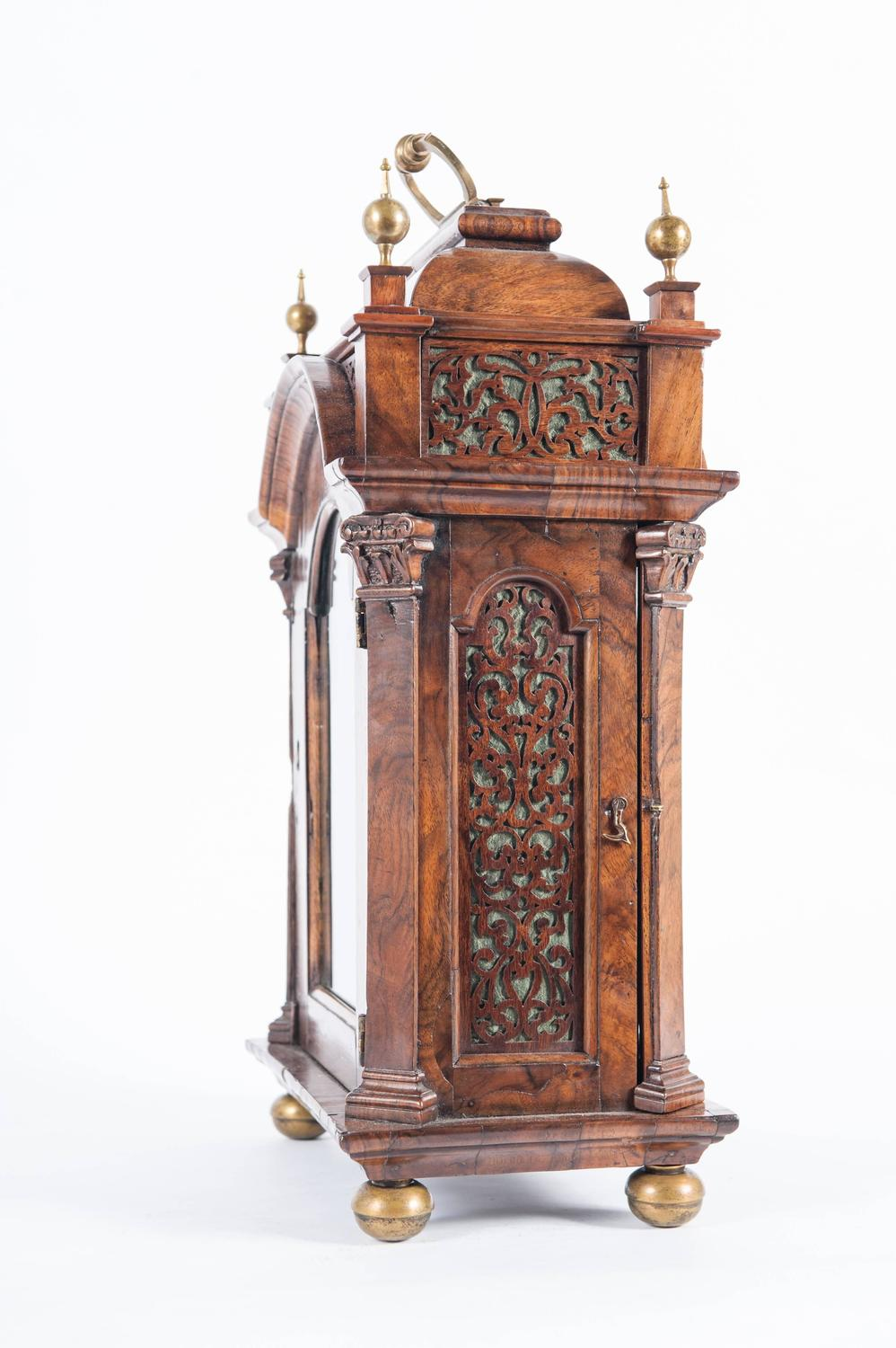 Very small unusual 18th century amsterdam burr walnut Unique clocks for sale