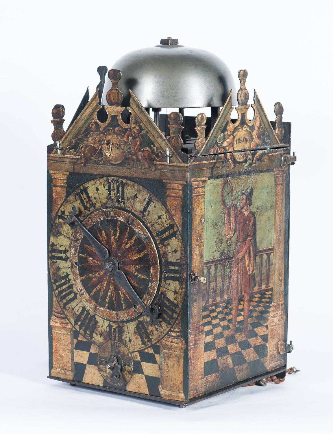 Very Early German Late 16th Century Chamber Clock Circa