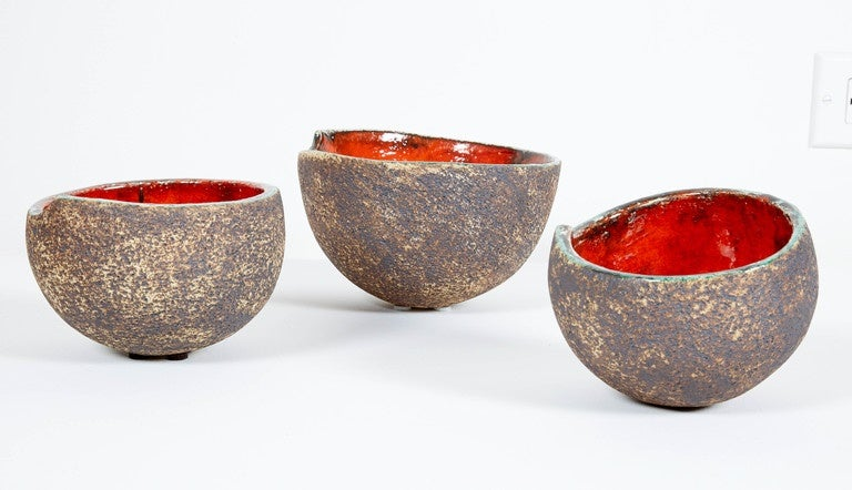 Set of Three Ceramic Bowls For Sale 3