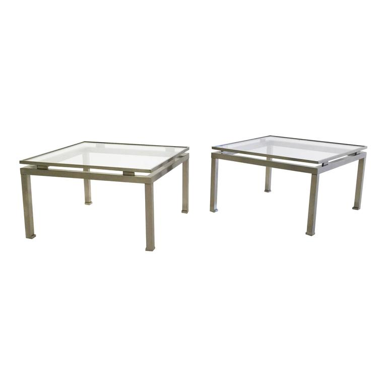 Pair of Side Tables by Guy Lefevre for Maison Jansen, France, 1970s