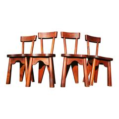 Set of Rare Reference Chairs by Charlotte Perriand, France, 1960s