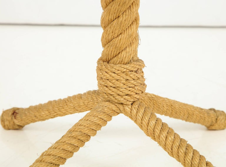 Rope Rudder-Shaped Petite Side Table by Audoux Minet, France, 1960s For Sale 2