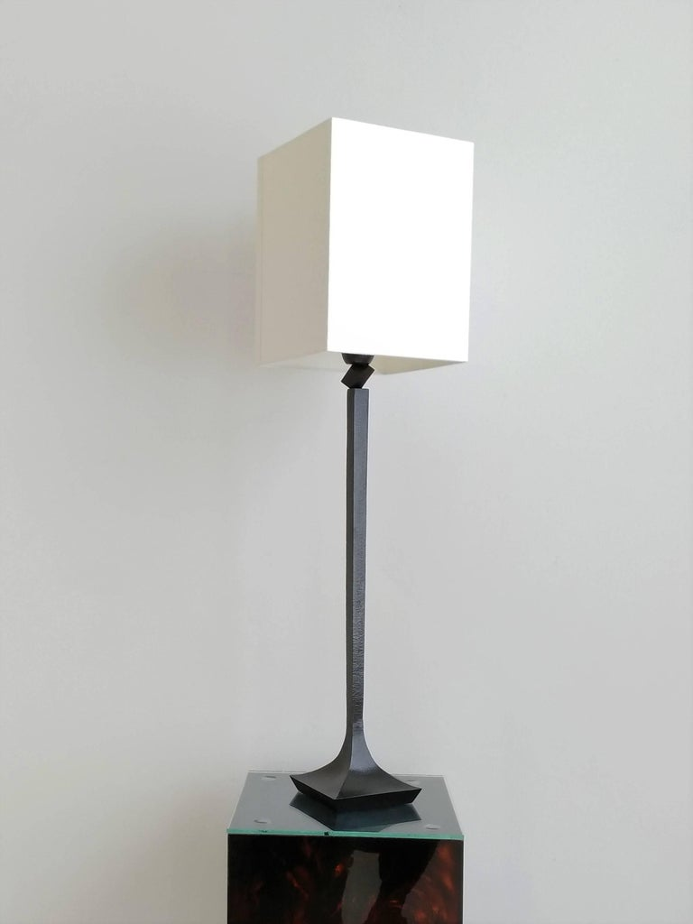 French Pair of Solid Bronze Table Lamps by RIchard Peduzzi, France, 2005 For Sale