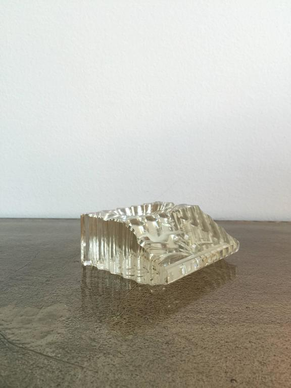 Carved crystal paperweight france s for sale at stdibs