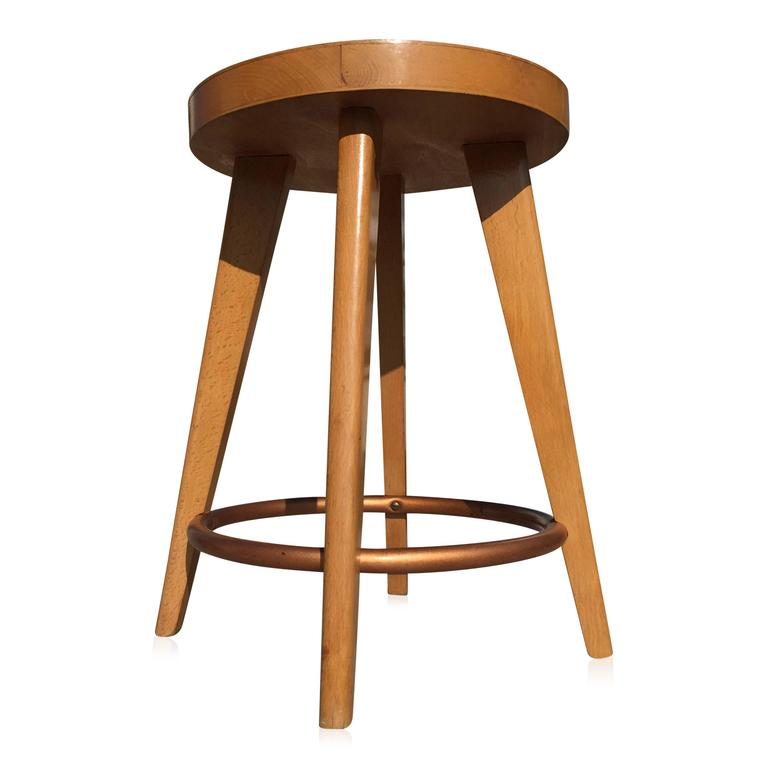 Beech Stool By Stella France 1950s For Sale At 1stdibs