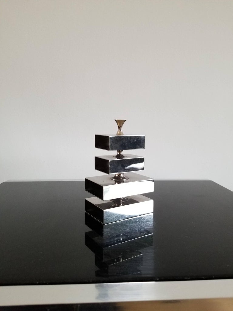Rare Signed Petite Pencil Rack by Philippe Barbier, France, 1970s In Good Condition For Sale In New York, NY