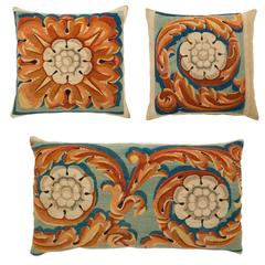 19th Century French Tapestry Fragments Made into Pillows