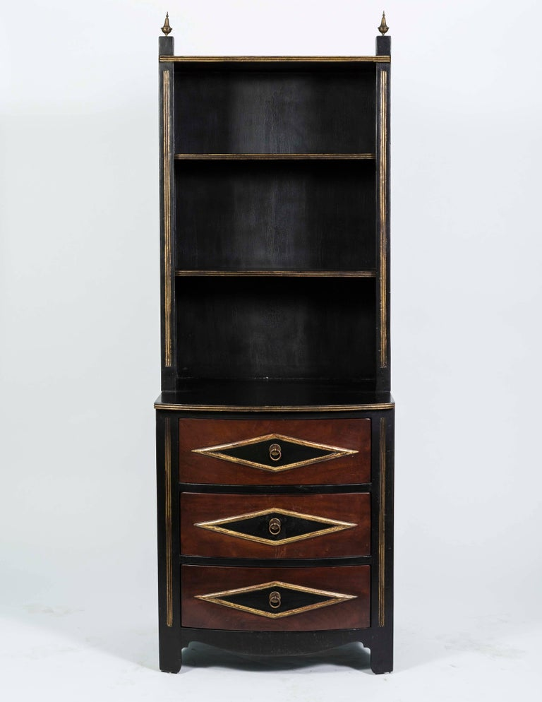Pair Of Vintage Chest Of Drawers With Bookcase Shelving