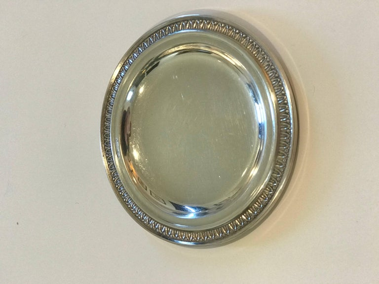 Silver Perugia & C. Italian 800 Silver Dishes/Butter Pats In Excellent Condition For Sale In Nashville, TN