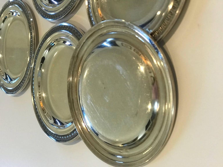 Late 19th Century Silver Perugia & C. Italian 800 Silver Dishes/Butter Pats For Sale