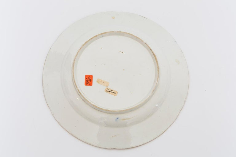 19th Century Porcelain Plate with Floral Design For Sale 1