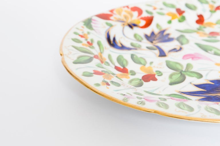 19th Century Porcelain Plate with Floral Design For Sale 3