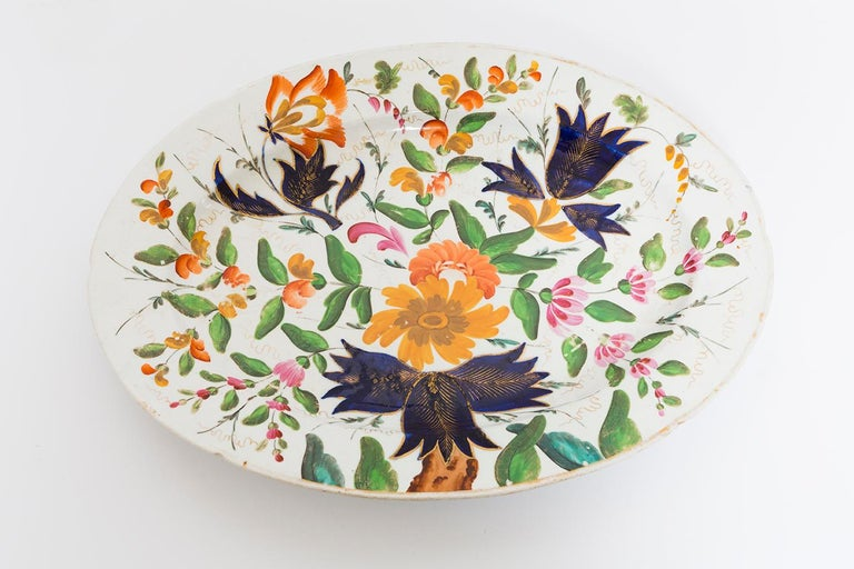 19th Century Porcelain Plate with Floral Design For Sale 7
