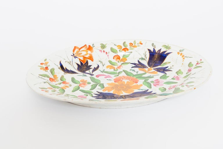 19th Century Porcelain Plate with Floral Design For Sale 9
