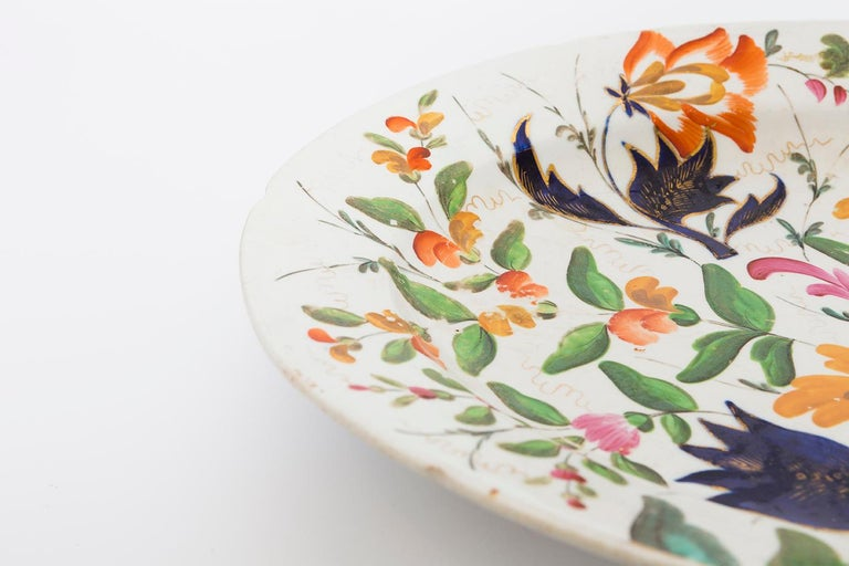 19th Century Porcelain Plate with Floral Design For Sale 10