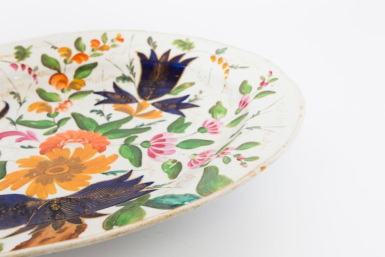 19th Century Porcelain Plate with Floral Design For Sale 11