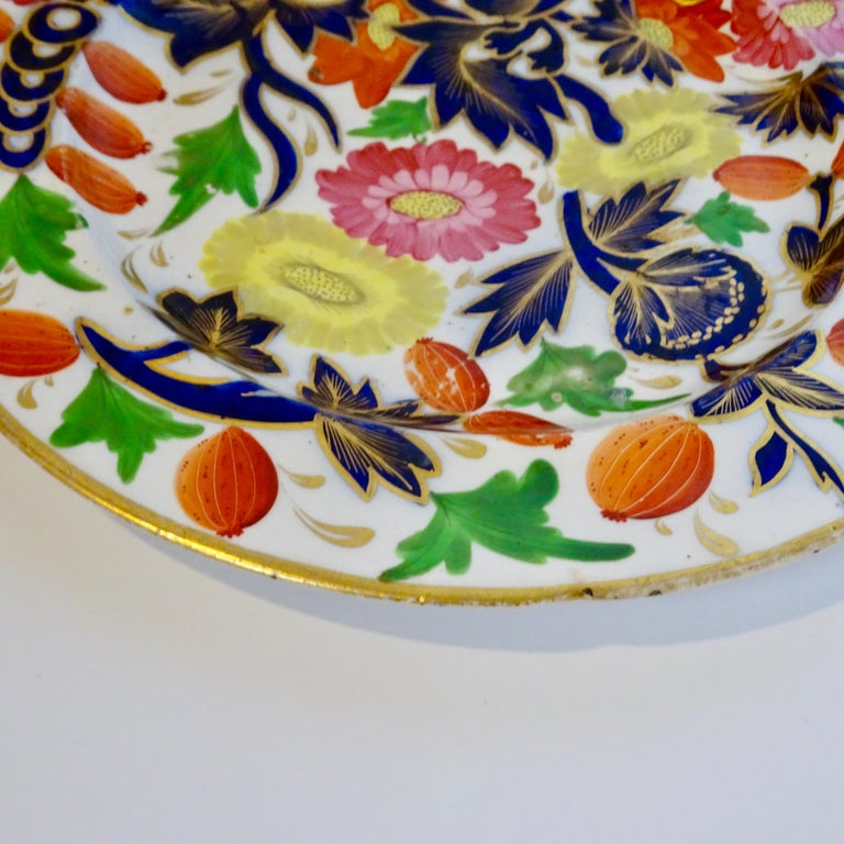 19th Century Porcelain Plate with Decorative Floral Design For Sale 1