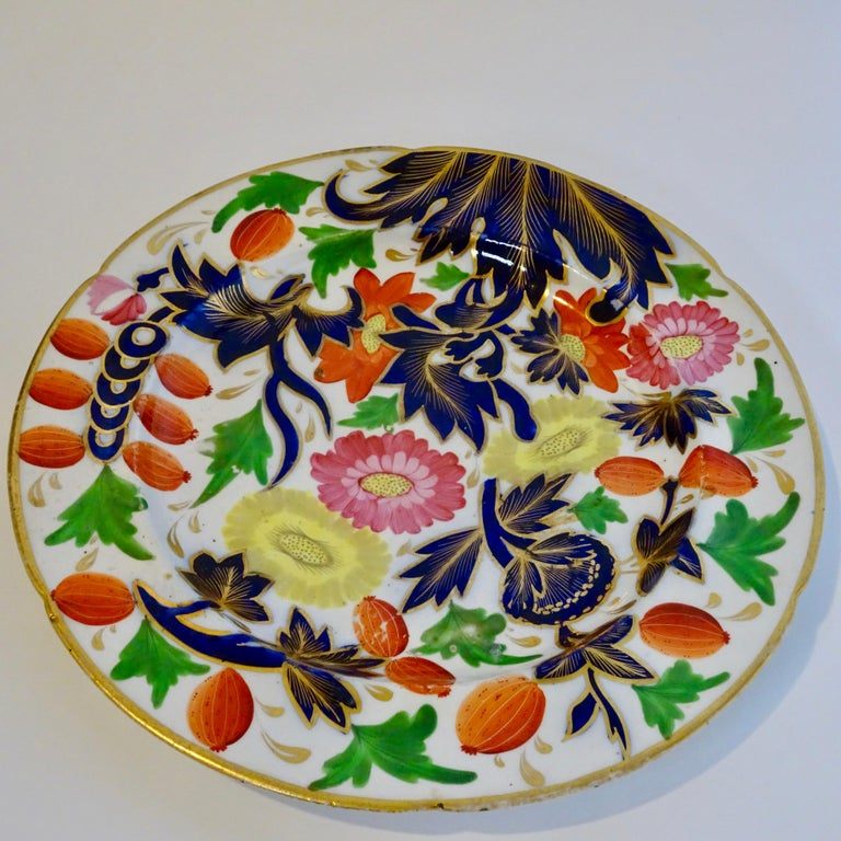 19th Century Porcelain Plate with Decorative Floral Design For Sale 2