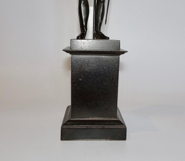 European 19th Century Black Bronze Statuette of Napoleon Bonaparte For Sale