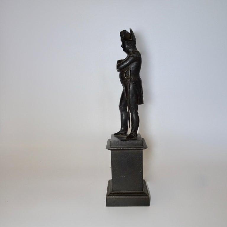 19th Century Black Bronze Statuette of Napoleon Bonaparte In Good Condition For Sale In Nashville, TN