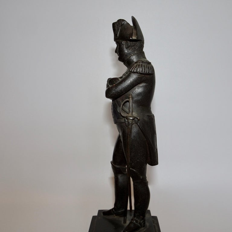 19th Century Black Bronze Statuette of Napoleon Bonaparte For Sale 1
