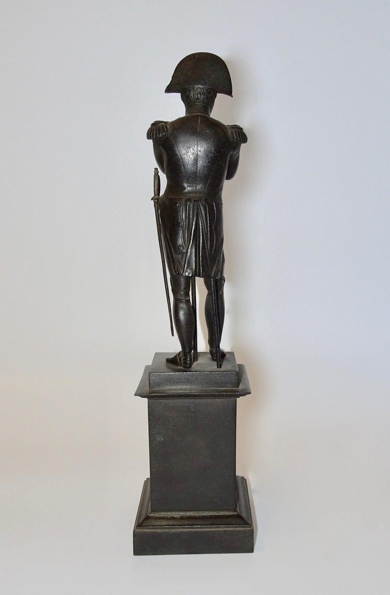 19th Century Black Bronze Statuette of Napoleon Bonaparte For Sale 2