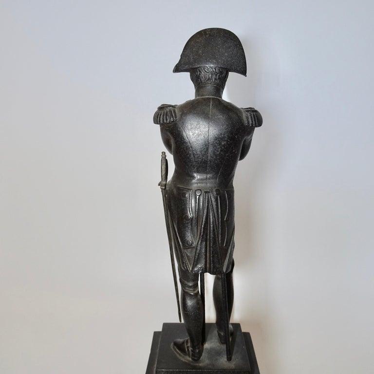 19th Century Black Bronze Statuette of Napoleon Bonaparte For Sale 3