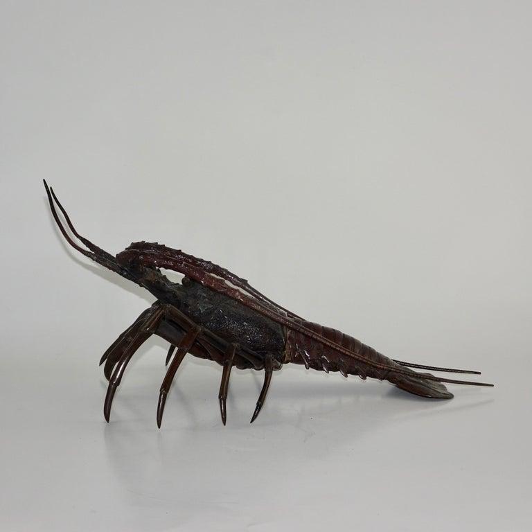 19th Century Dark Bronze Crustacean Figurine In Good Condition For Sale In Nashville, TN