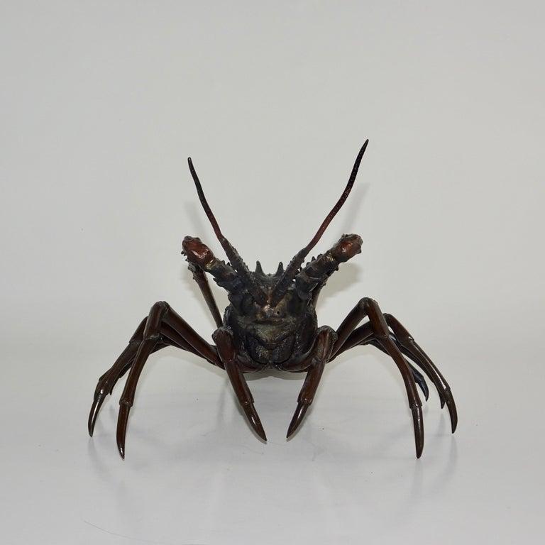 20th Century 19th Century Dark Bronze Crustacean Figurine For Sale