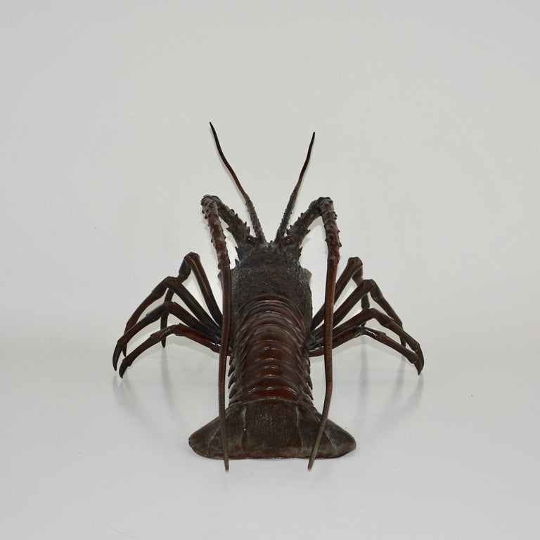 19th Century Dark Bronze Crustacean Figurine For Sale 1