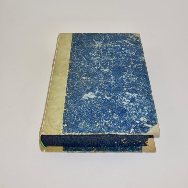 Plaster Early 19th Century Pair of Grand Tour Intagilos in a Box Designed as a Book For Sale