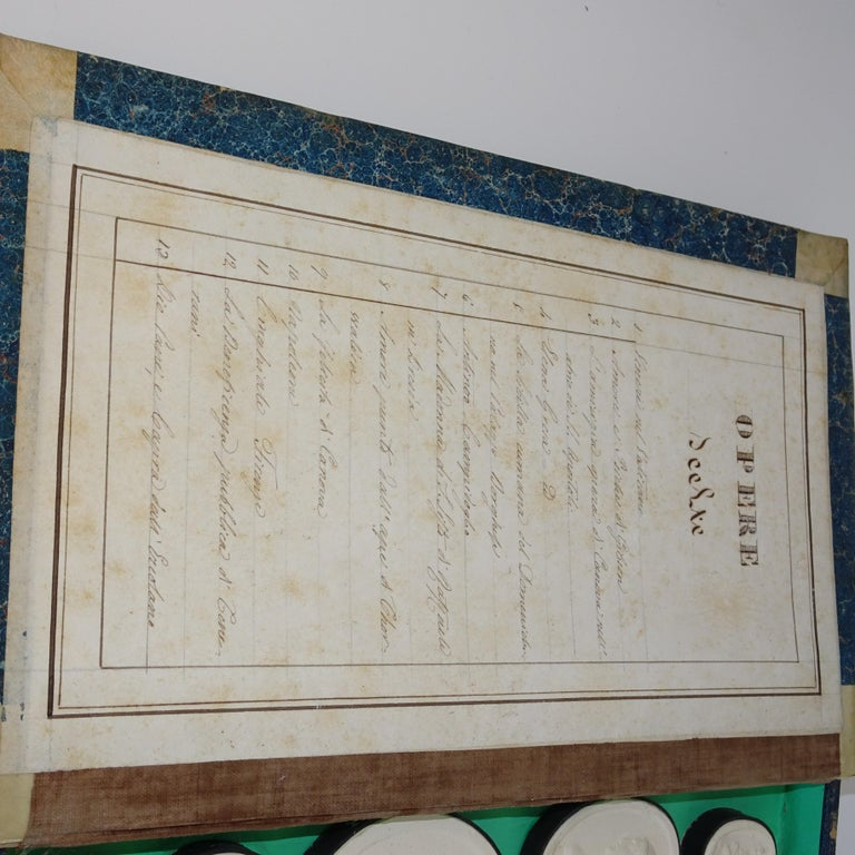 Early 19th Century Pair of Grand Tour Intagilos in a Box Designed as a Book For Sale 3