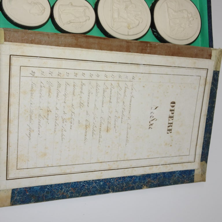 Early 19th Century Pair of Grand Tour Intagilos in a Box Designed as a Book For Sale 6