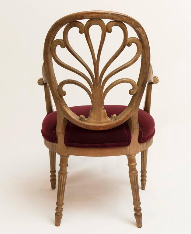19th Century Regency Bleached Wood Armchair For Sale 1