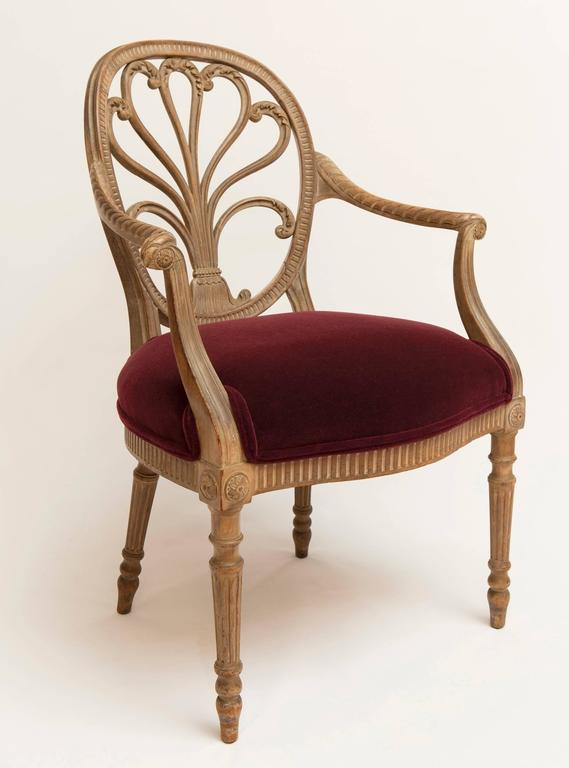 19th Century Regency Bleached Wood Armchair For Sale 6