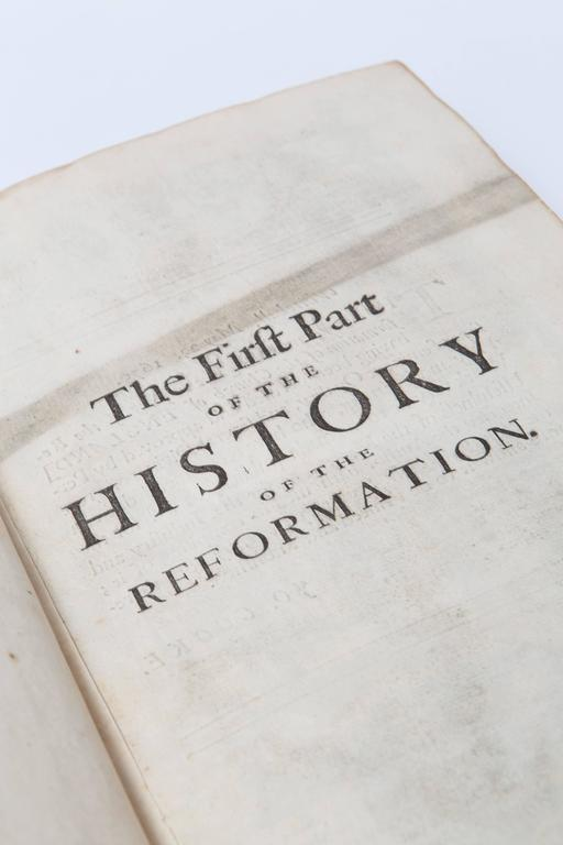 English 17th Century Leather Bound History of the Reformation Volume I and II For Sale