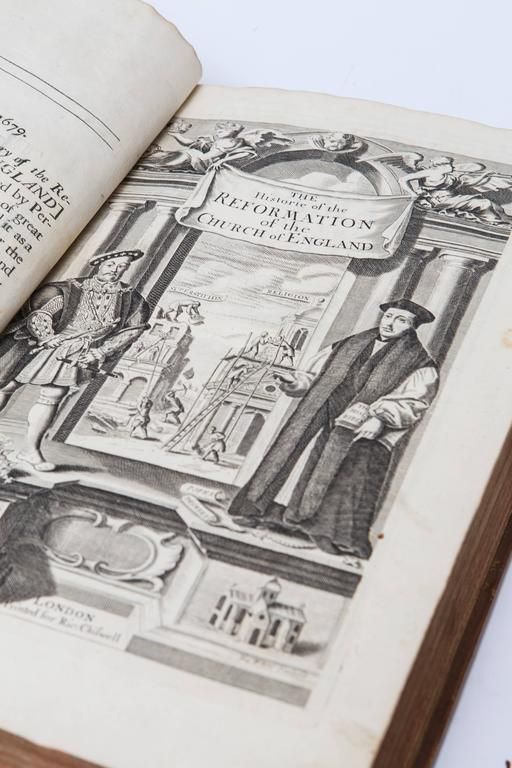17th Century Leather Bound History of the Reformation Volume I and II In Good Condition For Sale In Nashville, TN