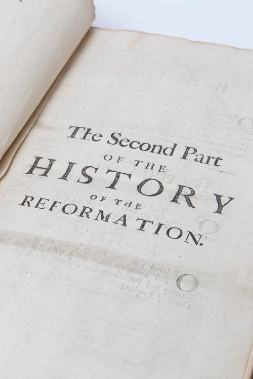 18th Century and Earlier 17th Century Leather Bound History of the Reformation Volume I and II For Sale