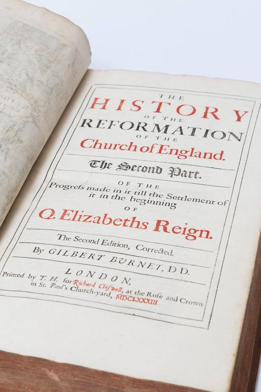 17th Century Leather Bound History of the Reformation Volume I and II For Sale 1