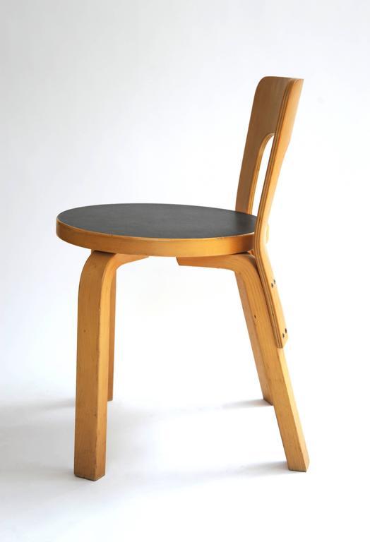 Child Chair 66. Wood, Black Laminate.