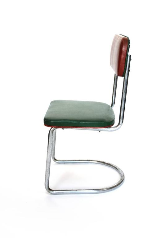 Mid-Century Modern Cantilevered Tubular Steel Chair in the Style of Marcel Breuer  sc 1 st  1stDibs & Cantilevered Tubular Steel Chair in the Style of Marcel Breuer ...