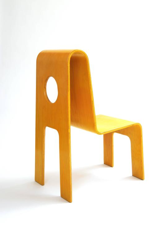Bon Finnish Kinder Link Molded Maple Plywood Cut Out Child Chair By Isku,  Finland