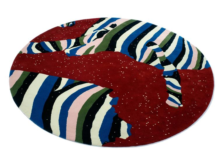 Cosmos Round Rug by Cody Hoyt + Kinder Modern in 100%, New Zealand Wool 2