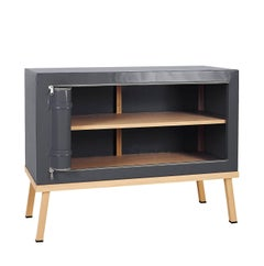 Visser and Meijwaard Truecolors Dresser or Credenza in Dark Grey PVC Cloth