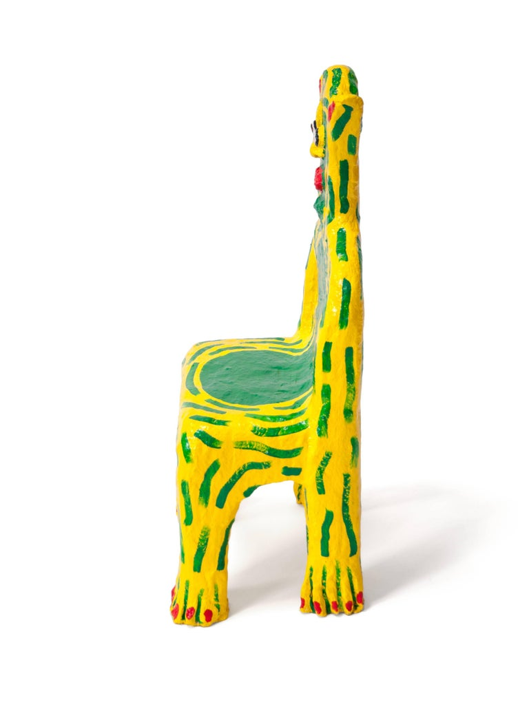 American Yellow Creature Child Chair by Brett Douglas Hunter, USA, 2018 For Sale