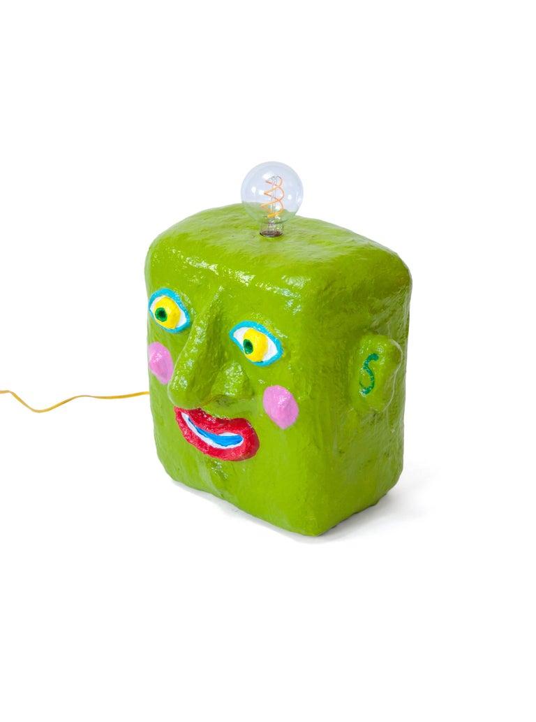 American Green Smile Lamp by Brett Douglas Hunter, USA, 2018 For Sale