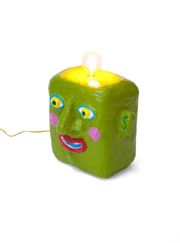 Green Smile Lamp by Brett Douglas Hunter, USA, 2018 In Excellent Condition For Sale In New York, NY