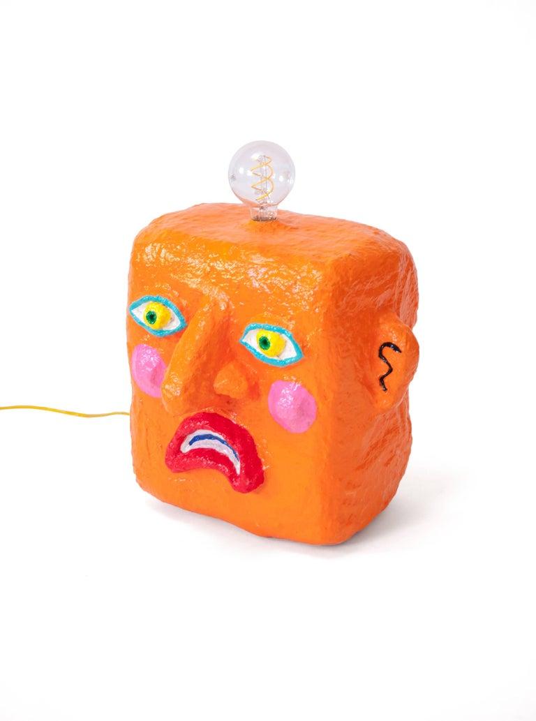 American Orange Frown Lamp by Brett Douglas Hunter, USA, 2018 For Sale